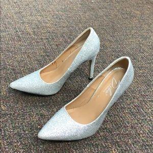 Diba London Silver Glitter Heels
